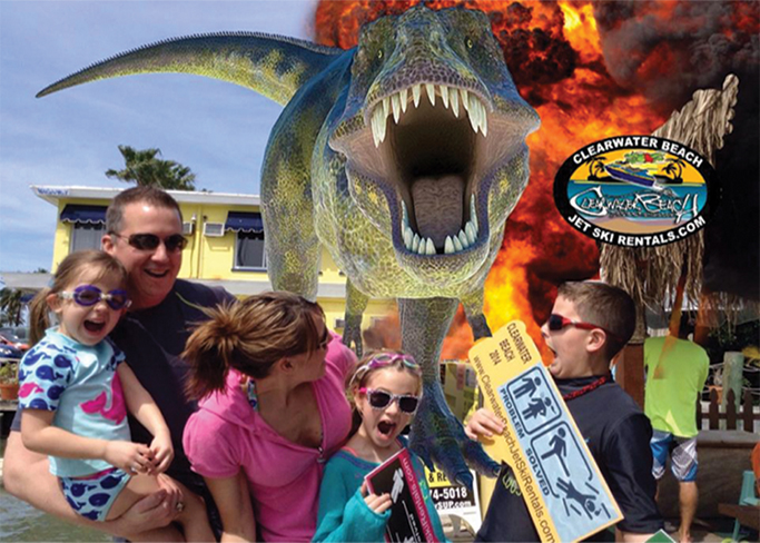 gozilla in clearwater beach